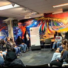 students at latino cultural center